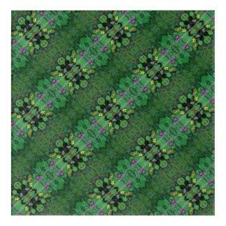 Lawn Flower Dapple crop B Fractal Diagonal Acrylic Wall Art