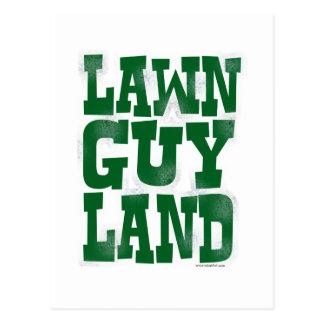 Lawn Guy Land Postcard