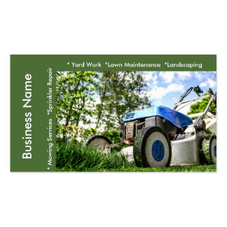 Lawn Maintenance and Services Template Pack Of Standard Business Cards