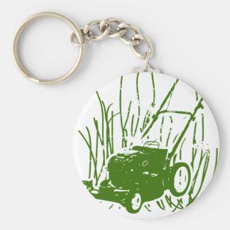 Lawn Mower Basic Round Button Key Ring