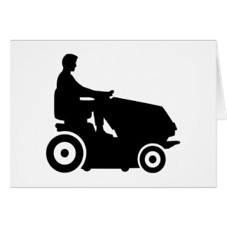 Lawn mower driver greeting card