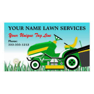 Lawn Mower   Landscaping   Groundskeeping Service Pack Of Standard Business Cards