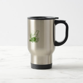 Lawn Mower Stainless Steel Travel Mug
