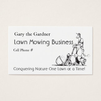Lawn Mowing Business Business Card