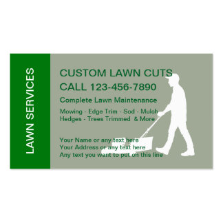 Lawn Mowing Services Pack Of Standard Business Cards