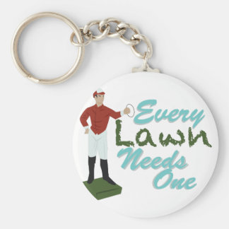 Lawn Needs One Basic Round Button Key Ring