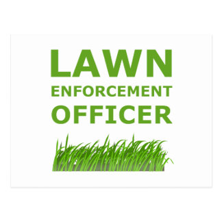 Lawn Officer Green Postcard
