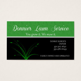 Lawn Service Business Card