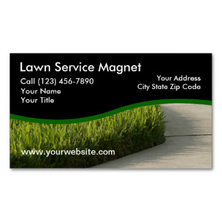 Lawn Service Business Magnets Magnetic Business Cards (Pack Of 25)