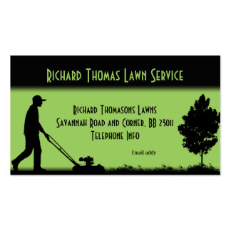 Lawn Service Landscape Double Side Business Card Templates