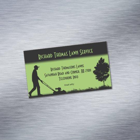 Lawn Service Landscape Magnetic Business Magnetic Business Card