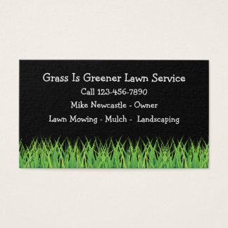 Lawn Service Simple Business Card