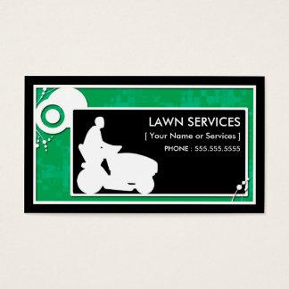 lawn services : block scheme business card