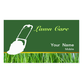 Lawn Services Pack Of Standard Business Cards
