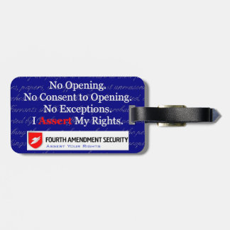 LAWn Sign Luggage Tag2 with Optional Card Slot Bag Tag