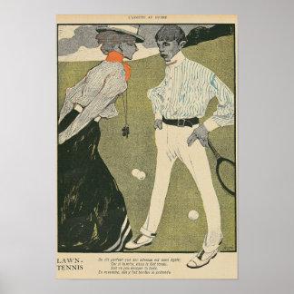 Lawn Tennis Poster