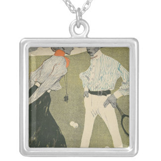 Lawn Tennis Silver Plated Necklace