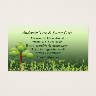 Lawn & Tree Service Business Card