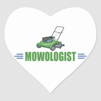 Lawn Yard Mowing, Mow Lawns, Landscaping Lawn Care Heart Sticker