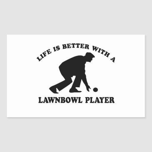 Lawnbowling vector designs rectangle stickers