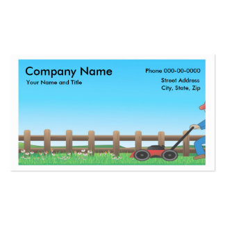Lawncare BusinessCard Pack Of Standard Business Cards