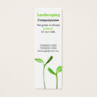 Lawncare  Landscaping Law green sprouts Mini Business Card