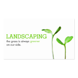 Lawncare Landscaping Lawn green sprouts Pack Of Standard Business Cards