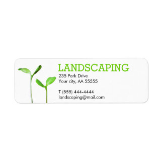 Lawncare Landscaping Lawn green sprouts Return Address Label