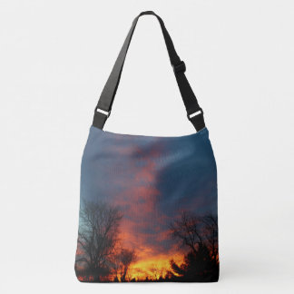 Lawndale Cemetary Fiery Sunset II Crossbody Bag