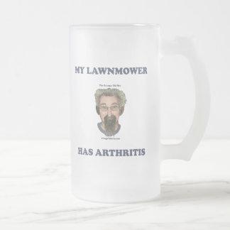 Lawnmower Has Arthritis Frosted Glass Beer Mug