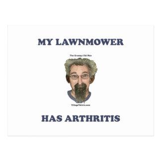 Lawnmower Has Arthritis Post Cards