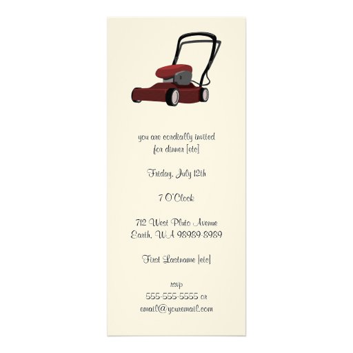 Lawnmower Invitations