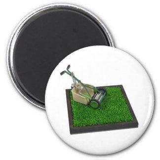LawnmowerOnTheGrass100711 6 Cm Round Magnet