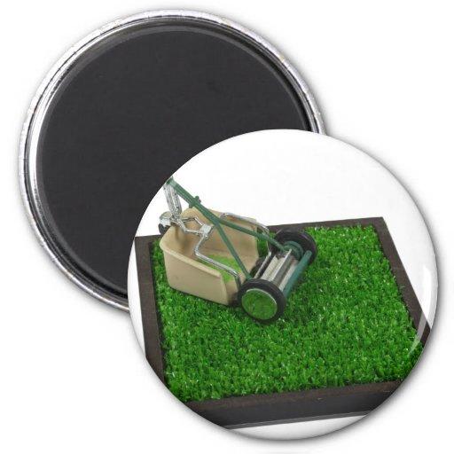 LawnmowerOnTheGrass100711 Fridge Magnet
