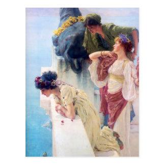 Lawrence Alma Tadema A Coign of Vantage Postcard