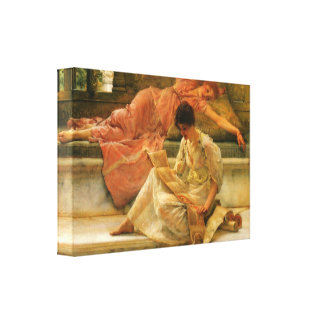 Lawrence Alma-Tadema - A favorite poet Gallery Wrapped Canvas