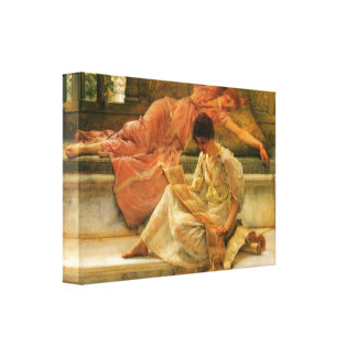 Lawrence Alma-Tadema - A favorite poet Canvas Print