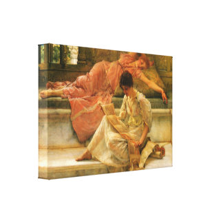Lawrence Alma-Tadema - A favourite poet Gallery Wrapped Canvas
