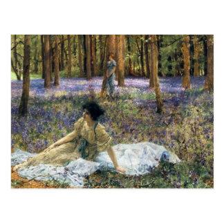 Lawrence Alma Tadema Bluebells Postcard