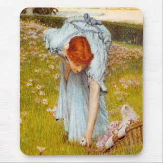 Lawrence Alma Tadema Spring in the Garden Mouse Pad