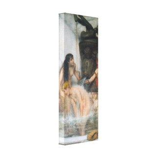 Lawrence Alma-Tadema - Strigilis and sponges Stretched Canvas Print