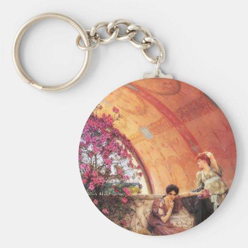 Lawrence Alma Tadema Unconscious Rivals Key Chain