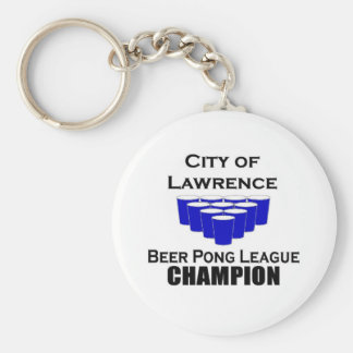 Lawrence Beer Pong Champion Key Chains