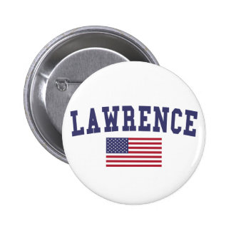 Lawrence IN US Flag 6 Cm Round Badge