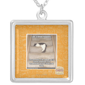 Laws of Kitteh Probability Silver Plated Necklace
