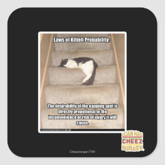 Laws of Kitteh Probability Square Sticker