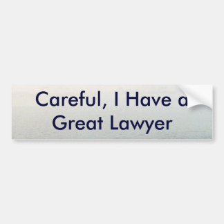 Lawsuit Bumper Sticker
