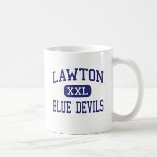 Lawton Blue Devils Middle Lawton Michigan Coffee Mugs