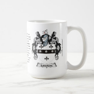 Lawton Family Coat of Arms Basic White Mug