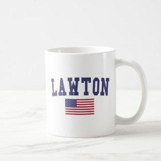 Lawton US Flag Basic White Mug